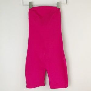 Urban Outfitters Neon Pink Shorts Leotard XS